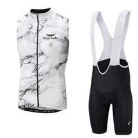 Morvelo 팀 사이클링 민소매 유니폼 조끼 (BIB) 반바지는 의류 통기성 경주 부드러운 피부 친화적 인주기 착용 멀티 컬러 전체 여름 Z41372