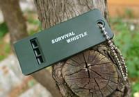 Аварийный Звук Свисток Темно-Зеленый 3 Частоты Свисток Открытый Эфирные Выживания Спасательный Инструмент Оборудование Для Кемпинга Туризм Bushcraft Полезные