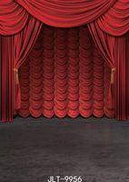 pantalla de color rojo foto de fondo la fotografía festivo fondos de vinilo tela modifique para requisitos particulares 3D para estudio fotográfico de teatro de graduación de graduación