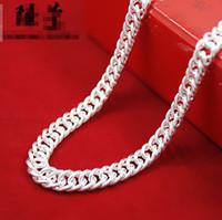 Collares de cadenas de serpientes Collar de plata Pulsera de collar de plata 5mm 6mm 7 mm Moda para hombres Joyas para mujer Alta calidad