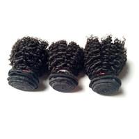 처리되지 않은 크리스마스 브라질 버진 인간의 머리카락은 인도 몽골어 저렴한 3 번들을 바래요. 곱슬 머리 곱슬 머리 판매를위한 머리카락 공장 가격