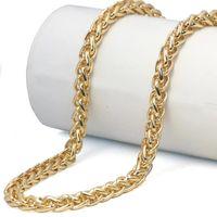 Collane a catena Franco intrecciate a fili di oro Collana a catena Spiga in oro da uomo in acciaio inossidabile
