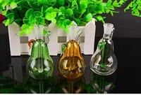 Mini Birne Shisha Großhandel Glas Bongs Ölbrenner Glas Wasserpfeife Ölplattformen Rauchen, Öl.