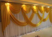 6 متر واسعة سوجس من خلفية الستارة الستارة الزفاف المصمم خلفية سوجس حزب الستار الاحتفال المرحلة الأداء خلفية التصاميم والستائر