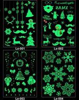 Decorazione del partito Adesivi del tatuaggio temporaneo luminoso Adesivi di Carnevale di Natale Partito del nuovo anno Decor Decorazioni natalizie Decorazioni natalizie