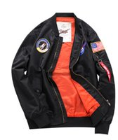 Autumn New Men MA1 Bomber Jackets Thin NASA Style Loose Base...