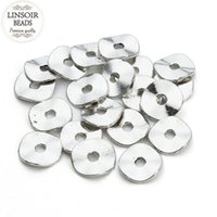 LINSOIR 100pcs lot 10mm Metal Alloy Round Flat Back Spacer B...