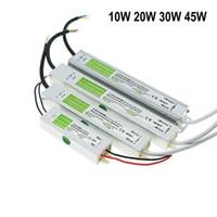 10W 20W 30W 45W 50W LED de alimentación DC 12V impermeable IP67 Transformador de CA a CC Adaptador Driver para jardín al aire libre Luces de tira