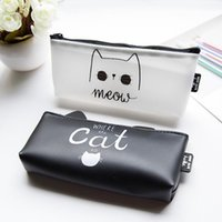 All'ingrosso- Vendite calde Kawaii Cartoon Cat Silica Gel Pencil Case Super Big Capacity School Cancelleria Penna Sacchetto regalo per Girl Boy Student Box