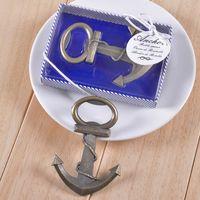 Envío gratis estilo antiguo de la vendimia barcos náuticos barco ancla abridor de botellas de cerveza regalos de boda favores 50 unids