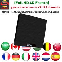 Full HD French IPTV Box W95 S905W SINOTV ott IP TV code 4500...