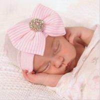 لينة لطيف القوس الكبير الحياكة الوليد قبعة الطفل الملحقات الطفل قبعة الوليد التصوير الدعائم 5 ألوان