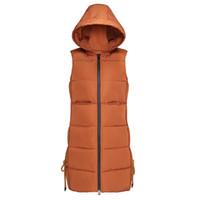 KUYOMENS Frauen Winter Weste schöne Mode Design lange Weste weibliche Baumwolle Warm Sleeveless Jacke Mantel Frauen