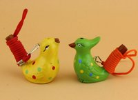 Seramik Su Kuş Düdük Çocuk Çocuk Hediyeler için Warbler Şarkı cıvıltıları Ev Dekorasyon Figurine Benekli
