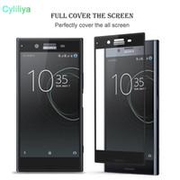 Vidrio templado 3D para Sony Xperia XA XA1 X X Compact XZ XA X Ultra premium borde curvo cubierta completa Protector de pantalla transparente