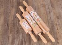 Rullo di legno professionale per la cottura di un design affusolato liscio Migliore per il rullo di pasta di pasta biscotto con fondente e torta