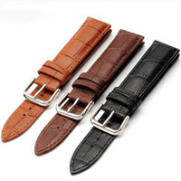 3 Color watch bracelet belt black watchbands genuine leather...