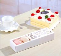 معكرون حزمة جميلة متعددة الأغراض جوفاء فقرة قصيرة معكرون مربع المنزل الخبز بوتيك التغليف مربع 4 ألوان.