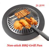 New Kochen Werkzeuge Non -Stick Gasgrill Pan Refined Eisen Barbecue Bbq Frying Bräter Außen Saucepan Panela Sartenes Mode