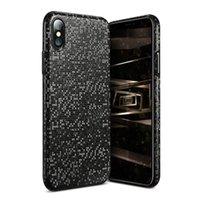 Für iPhone X Luxus-Mosaik-ultra dünne Plastikfall-Abdeckung für iPhone 8 7 6 plus Telefon Shell