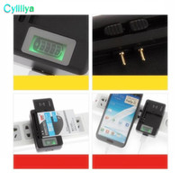 Kutu ile Evrensel LCD Şarj USB Sync Dock Duvar Seyahat Adaptörü cep telefonu Için Pil SS-5