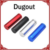 Automatic Ejection Dugout Grinder E Cigarette Case Holder Aluminum Pocket Dugout Case Composite Cracker 2 Layer Metal Grinder