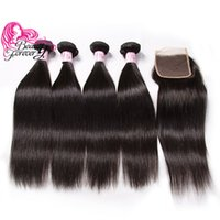 Beauty Forever Brazilian Straight Human Hair 4 Bundles With ...
