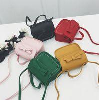 الأطفال حقيبة يد الفتيات الحلوى لون الأقواس الأميرة أكياس أزياء أطفال بو واحدة حقيبة الكتف فتاة chirstmas حزب محفظة F1921