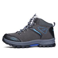 High Top Fashion Hiking Boots Plush Tactical Outdoor Mountai...