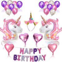 Unicorn Party Supplies Set With Glitter Unicorn Headband for...
