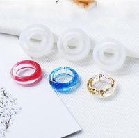 شفافة سيليكون العفن الراتنج الزخرفية الحرفية diy حلقة القالب نوع الراتنج قوالب للمجوهرات