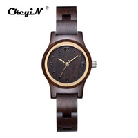Womens Wooden Watches Nature Wood Band Bracelet Watch Women Small Dial Quartz Wristwatches Ladies Creative Gift Clock 46