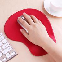 Tapis de souris 3D avec repose-poignet Support Protéger Gaming Tapis de souris Silicone Gel Main PU Anti-dérapant Hand oreiller Mémoire Coton Tapis Mat boîte de détail