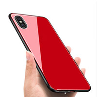 Tempered Glass Case for iPhone X 7 8 Plus 6 6S Plus 5 5S SE ...
