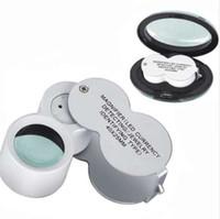 LED-Leuchten Schmuck Lupe Metallbau Folding Juwelier-Lupen-Vergrößerungsglas Gems-Uhr-Reparatur-Werkzeuge