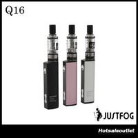 أصيلة Justfog Q16 Vape Kit 900mAh E السجائر Vape القلم كاتب كيت مع 2ml البخاخة 1.6ohm OCC لفائف