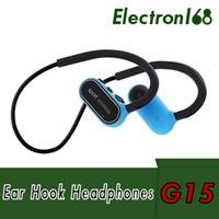 G15 auriculares más nuevos G15 auriculares bluetooth deportes inalámbricos que ejecutan auriculares Ear Hook Earbuds con micrófono para iphone samsung con caja al por menor