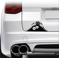 Стайлинга автомобилей аксессуары светоотражающие водонепроницаемый мода смешно выглядывает монстр автомобиля наклейки Виниловые наклейки украшения наклейки 4 шт./компл.