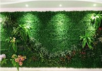 100Pcs lot Artificial Turf Carpet Simulation Plastic Boxwood...