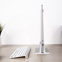 Titular do telefone móvel do portátil do portátil do espaço de trabalho, suporte vertical do portátil com tamanhos ajustáveis da doca para o MacBook Pro