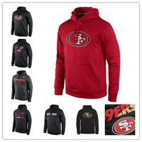 San Francisco 49ers Sideline Circuit Roter Spieler Training Performance Sweatshirt Pro Line Black Gold Kollektion Pullover Druck Hoodies