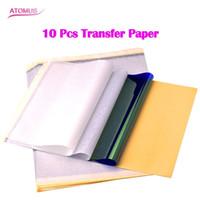 Dövme Stencil Transferi Karbon Kağıt Üst 10 adet A4 Boyutu Dövme kaynağı için Termal fotokopi kağıdı
