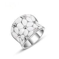 Новый женский австрийский хрусталь кольцо классический позолоченные ювелирные изделия инкрустация горный хрусталь кольцо мода розовое золото шаблон кольца, персонализированные ювелирные изделия