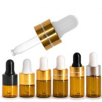 1 ml 2 ml 3 ml ambre flacon compte-gouttes en verre flacons de visualisation d'huile essentielle petites sérum parfum brun échantillon échantillon bouteille F1225