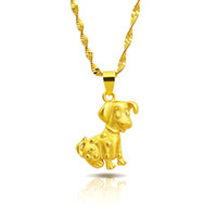New arrival Fashion gold plated Cute zodiac dog pendant neck...