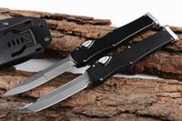 """OFFRE SPÉCIALE VI HA LO 6 COUTEAU TACTIQUE (4,4 """"SATIN) Couteaux à lame à action unique avec verrou de sécurité SURVIE EDC Gear"""