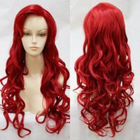 The Little Mermaid Princess Ariel Parrucca lunga ondulata parrucca riccia  rossa riccia bf95a814bbf