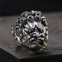 925 sterling silver ring vintage King marcasite ring mens pe...