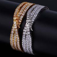 Hip Hop chaîne en or 18 carats plaqué or simple rangée carré cubique zircon collier de cuivre pour les hommes poli poli glacé sur bijoux bling brillant
