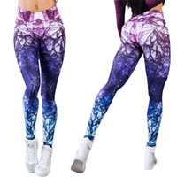 2018 New Sexy Yoga pants Mixed Color High Waist Digital Prin...